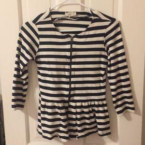 Zara striped peplum jacket